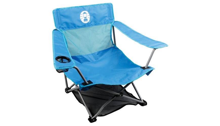 Coleman Low Quad Camping zitmeubel blauw